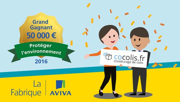 Cocolis Grand Gagnant La Fabrique AVIVA 2016